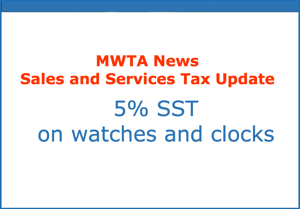 Malaysia Sales and Services Tax (SST)