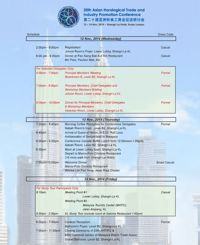 20th AHTIPC 2014 Program
