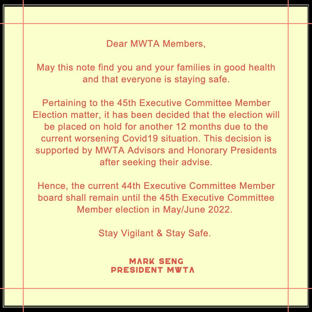 Committee Board Election Postponement